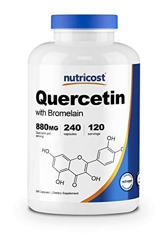 Nutricost Quercetin 880mg, 240 Vegetarian Capsules with Bromelain (165mg) - 120 Servings (440mg Quercetin Per Cap) - Gluten Free, Non-GMO