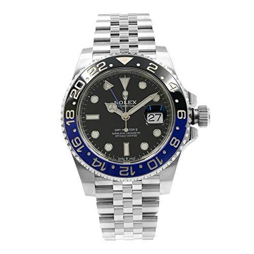 Rolex GMT-Master II Batman ceramica acciaio Jubilee orologio bracciale 126710BLNR