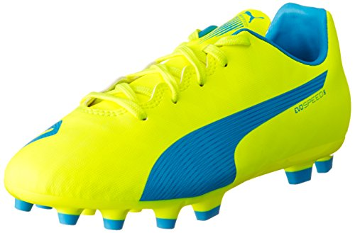 PUMA Unisex-Kinder Evospeed 5.4 AG Jr Fußballschuhe, Gelb (Safety Yellow-Atomic Blue-White 04), 33 EU