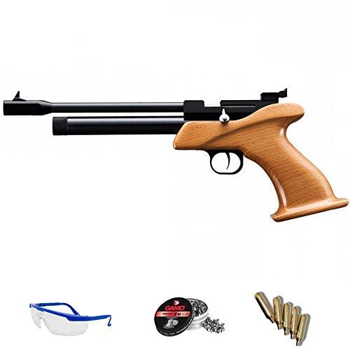 Zasdar Pack Pistola de Aire comprimido CP1 4.5mm - Arma de CO2 y balines (perdigones de Plomo) <3,5J