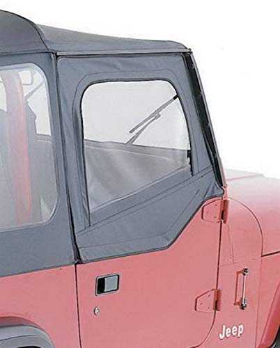 RAMPAGE PRODUCTS 89615 Black Denim Factory Replacement Door Skins (for Soft Upper Doors) for 1987-1995 Jeep Wrangler YJ
