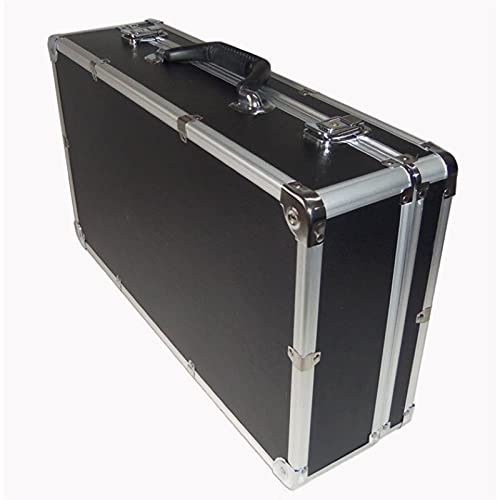 WEISHAN 510 * 280 * 135mm Caja de Herramientas de Aluminio Maleta Maleta de Herramientas Caja de Archivo Caja de Seguridad Resistente al Impacto Equipo de Caja de Seguridad Caja de cámara con Espuma