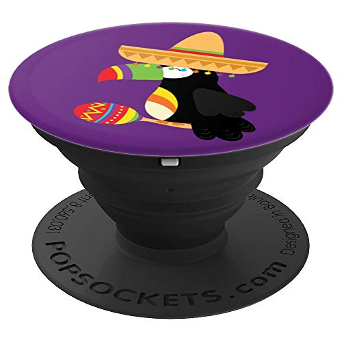 Toucan Bird Sombrero Maracas Festive Mexican PopSockets Grip and Stand for Phones and Tablets