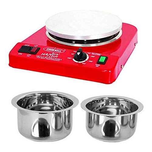 Cookwell Steel Portable Hotplate/Cooktop (Red)