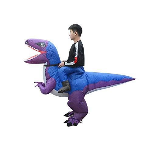 GYZLZZB Faltbare Schlauchboot Radfahren Raptors Dinosaurier-Kleidung for Erwachsene Lustige Halloween Weihnachten Kostüme Aufblasbare Hahn-Klage Cosplay Lustiges Kleid Entertainment Kleidung