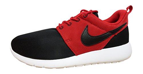 Nike Roshe One (GS), Zapatillas de Running Hombre, Negro/Rojo/Blanco (Black/Black-Gym Red-White), 38 EU