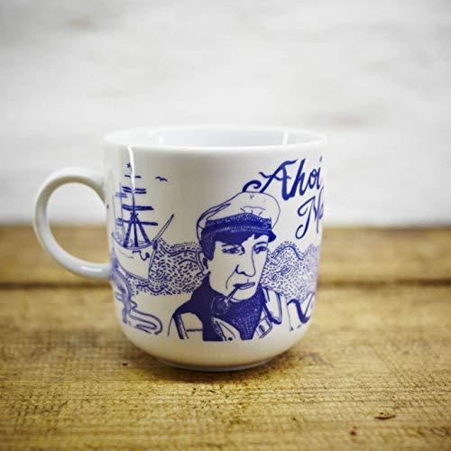 Kaffeebecher - 100% Handmade von Ahoi Marie - Motiv Piet - Maritime Porzellan-Tasse original aus dem Norden
