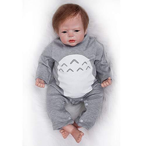 Nicery Muñecas Reborn Vinilo de Silicona Suave para Niños y Niñas Cumpleaños 20-22 Inch 50-55 cm Juguetes Reborn Baby Doll gx55-3oes