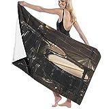 NANITHG Toalla de Playa,Música Rock Roll Equipo Musical en el Escenario Cool Drum Set,Toallas de Baño Toallas de Acampada Piscina Natación Playa Toallas de Mano Ducha Toallas de Mano