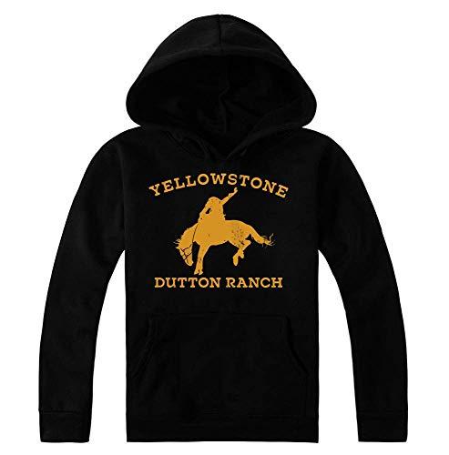 idcommerce Ranch Horse Artwork Felpa con Cappuccio da Donna Medium