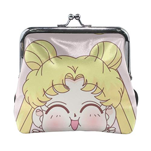 Meirdreni Monedero con hebilla Sailor Moon Smile Pouch Kiss-lock Change Purse Wallets
