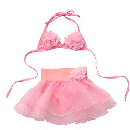 Carolilly Maillot de Bain Bébé Fille/Fillette Bikini Florale Enfant de 2 Pièces Top Triangle...