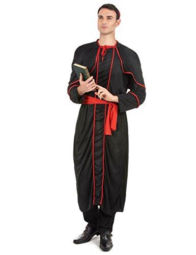 Costume da vescovo in nero per adulto Taglia Unica