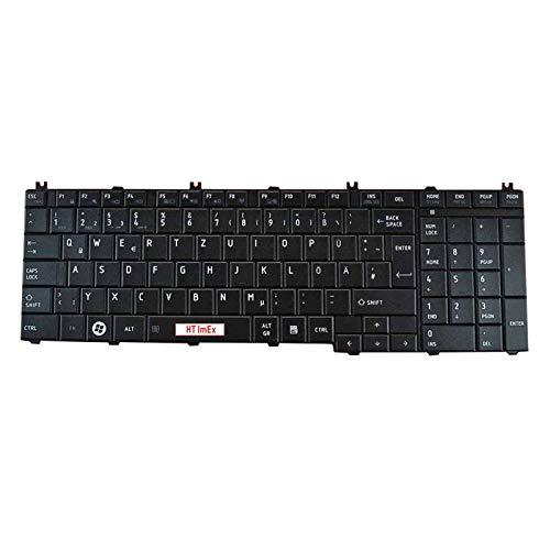 Tastatur - Farbe: Schwarz - Deutsches Tastaturlayout MATT Version 2 kompatibel für Toshiba Satellite C650 C650D C660 C660D C655 C655D C670 C670D