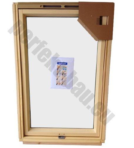 BLITZVERSAND!!! 78x118 Fakro Optilight Dachfenster mit Eindeckrahmen Schwingfenster aus Holz