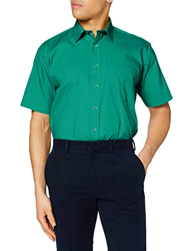 Premier Premier Kurzarm Popeline-Hemd Smaragd 17.5