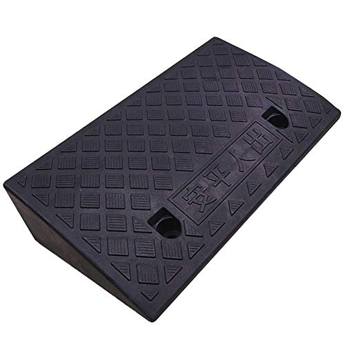 SUYUHENG-Rampas de carga Gomma Rampa, Rampa Soglia Mobilità Pesante Sedia Rotelle Disabili su Sedia Rotelle per Skateboard Moto (Color : Black, Size : 50x28x7cm)