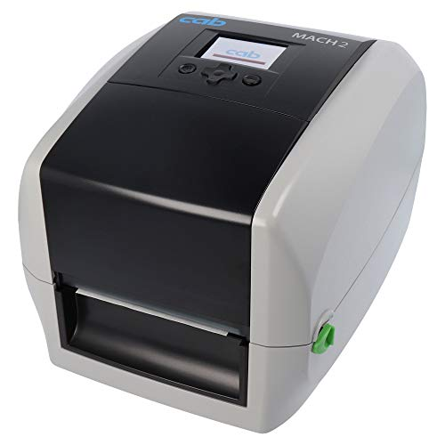 cab MACH2 Drucker mit Abreißkante, LED Anzeige - 300 dpi - Thermodirekt, Thermotransfer - 105,7 mm max. Druckbreite, LAN, seriell, USB, USB-Host Schnittstellen