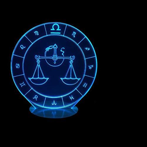 Weegschaal vorm 3D Illusie Lamp 3 Modi 7 Kleuren LED USB Aangedreven Slaaplamp Speelgoed voor Kinderen, Verjaardagscadeau, nachtkastje Decoratie