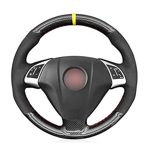 SAXTZDS Cubierta de Volante de Fibra de Carbono PU, Apta para Fiat Grand Punto Bravo Linea 2007-2019 Qubo Doblo Opel Combo Vauxhall Combo 2012-2017