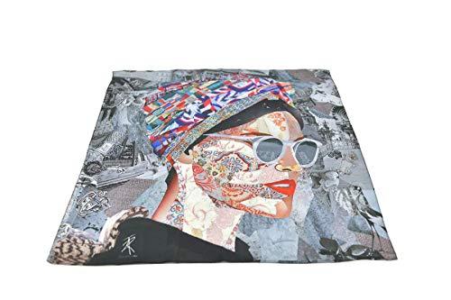 Anabel Ruiz Art, Damen Schal aus 100 % Seide, leicht, quadratisch, Motiv