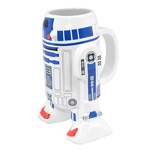 Joy Toy 'R2D2 3D Ceramic Cup, Multi-Colour, 400 ml