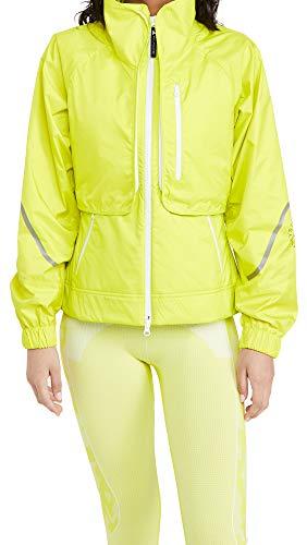 adidas by Stella McCartney Women's ASMC Two in One Jacket, Yellow/Green, Medium