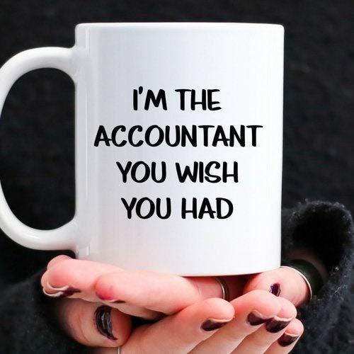 DKISEE leuk cadeau voor de accountant In je leven Personalize deze sarcastic koffie mok met een aangepaste naam of foto 15oz wit