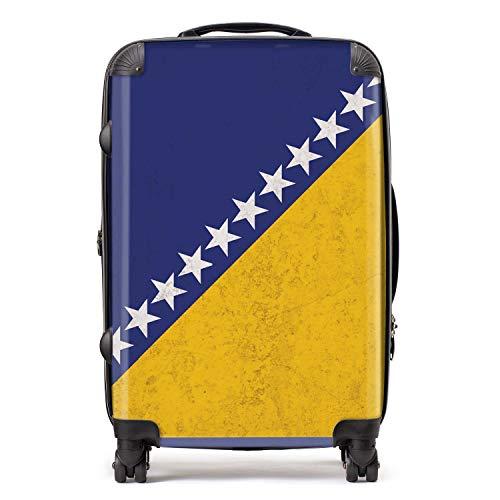 Bosna en Herzegovina/Bosnische vlag koffer met TSA slot 4 spinner wielen bagage 68cm 80Ltr / Zuid-Europese vlaggen