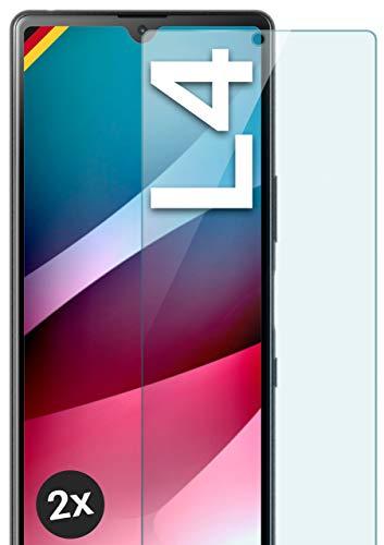 moex Panzerglas kompatibel mit Sony Xperia L4 - Schutzfolie aus Glas, bruchsichere Bildschirmschutz Folie, Crystal Clear Panzerglasfolie, 2X Stück