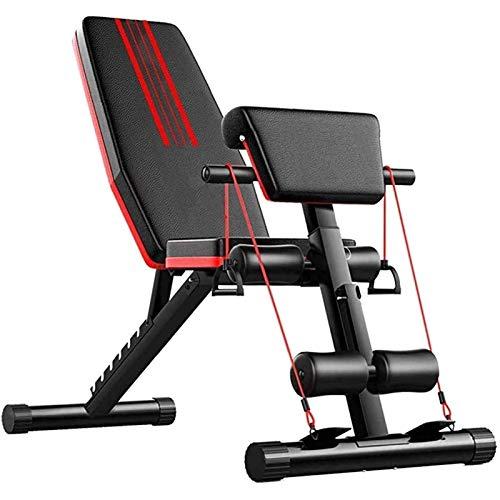 HHTD Bancos de pesas ajustables para entrenamiento de fuerza, tabla supina, banco de peso para dispositivos abdominales, equipo de fitness en el hogar para hombres y mujeres