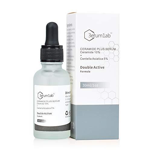 Ceramid Serum Hochfest für Gesicht und Haut, einzigartige doppelte Wirkstoffe aus 10% Ceramid und 5% Centella Asiatica Synthetischer Effekt zur Reduzierung von Falten und Augenringen