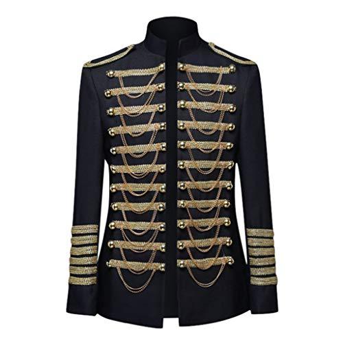 Gothic Herren Windjacke Palaststil Traditionell Elegant Anzugjacke Gold-Jacquard-Muster Nationaler Mantel Quaste Gestickter Anzug Karneval KostüM Stierkampfanzug Uniform Trenchcoat