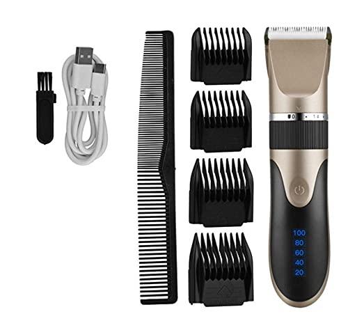 SUN100 Cortadora De Pelo Recargable Digital De Las Podadoras De Pelo De La Maquinilla De Afeitar De La Cuchilla Del Corte De Pelo De Los Hombres