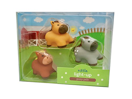 Rittle Pony Pals, Cute Floating Light-up Bath Toys (Set of 3)