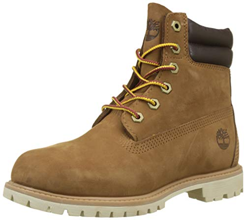 Timberland Damen Waterville 6 Inch Basic Waterproof Kurzschaft Stiefel, Braun (Light Brown Nubuck 919), 38.5 EU