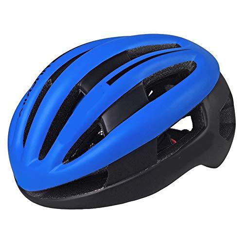 Stella Fella Cascos para hombres y adultos de moldeo integrado para equipos masculinos y femeninos, casco de bicicleta, cascos de montar en bicicleta de montaña, carretera (color: azul)