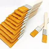 WOOAI - Juego de 12 pinceles de pintura al óleo de nailon, para decoración de pared infantil, con mango de madera