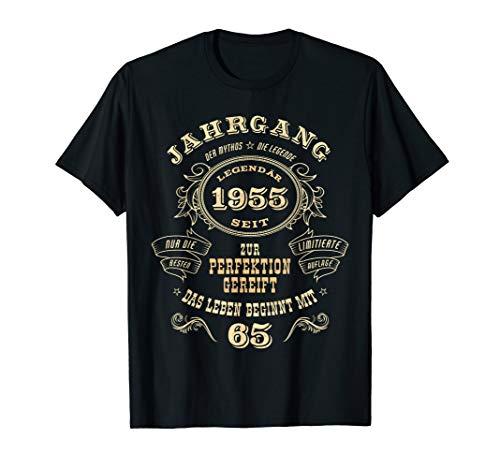 65. Geburtstag Mann Frau Jahrgang 1955 Geschenk Herren Damen T-Shirt