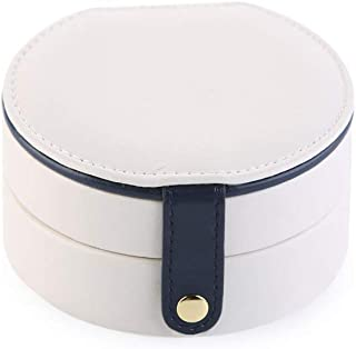 MINGZE Scatola Porta Gioielli da Viaggio - Double Layer Jewellery Organizer Custodia di Piccole Dimensioni con Specchio pe...