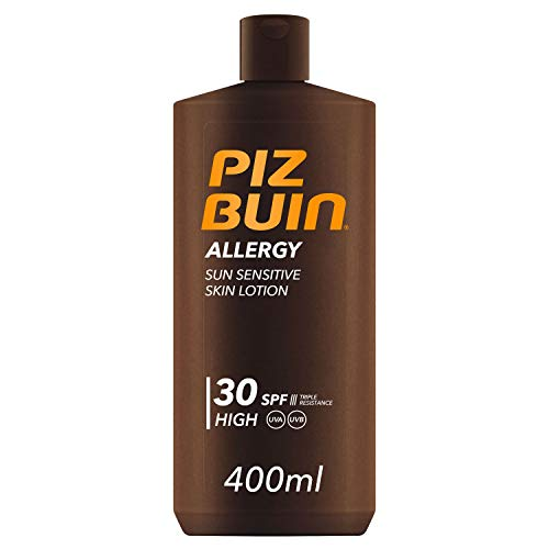 Piz Buin, Allergy Protector Solar en Loción SPF 30, Protección Alta, 400 ml