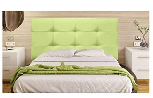 ONEK-DECCO Cabecero tapizado en Polipiel de Dormitorio Tennessee Medidas cabecero de Cama niño, Juvenil y Matrimonio Cabezal Blanco, tapizado, Acolchado (90x70, Verde)
