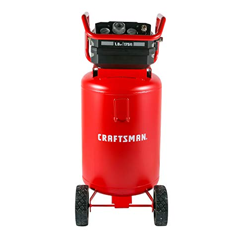 Craftsman Air Compressor, Max 175 Psi 20 Gallon 1.8 HP Heavy Duty...