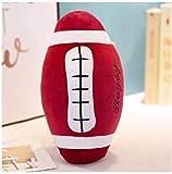 Juguete de fútbol de simulación Vino Rojo Rugby Almohada Suave Muñeca Regalo para niños Muñeca esférica Regalo de cumpleaños para niños 30 cm