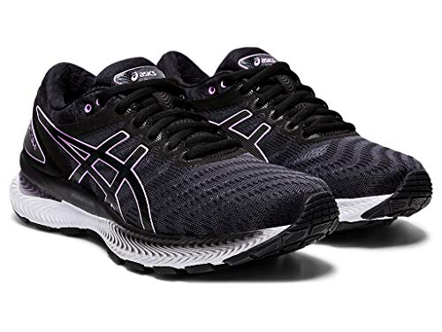 ASICS Women's Gel-Nimbus 22 Running Shoes, 8.5M, Black/Lilac TECH