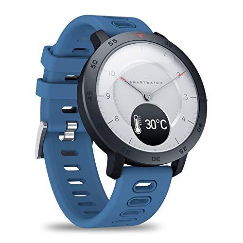 Smart Watch (GPS + Altimetro + Bussola), Full HD Touchscreen, Frequenza Cardiaca E L\'attività Tracker Fitness, Calorie Counter, Sleep Tracker, Bluetooth Smartwatch,Blu