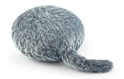 Qoobo (Husky Gray) Robot pillow with a tail