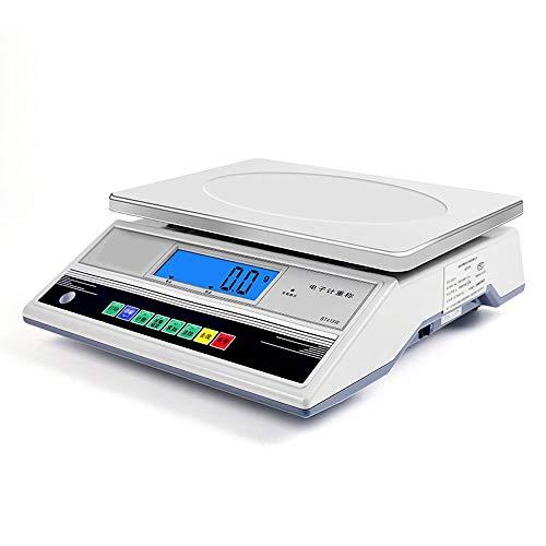 TRRT Industrial Digital Balanza, Alta precisión Pantalla LCD Tienda de pesaje Escala de cálculo de Precios Vegetal Cocina Restaurante Báscula (Color : 6kg/0.1g)