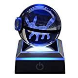 3D Crystal USB Touch LED Night Light, 7 Color Change Table lamp for Kids Bedroom 6CM Ball