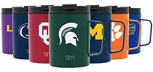 Simple Modern NCAA Michigan State Spartans 12oz Coffee Mug Insulated Travel Stainless Steel Scout - MSU